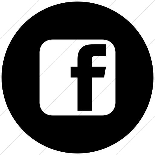 social media facebook square flat circle white on black 512x512